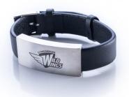 Armband aus Leder mit Logogravur