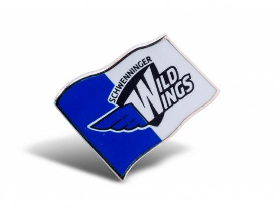 Pin Fahne mit Logo