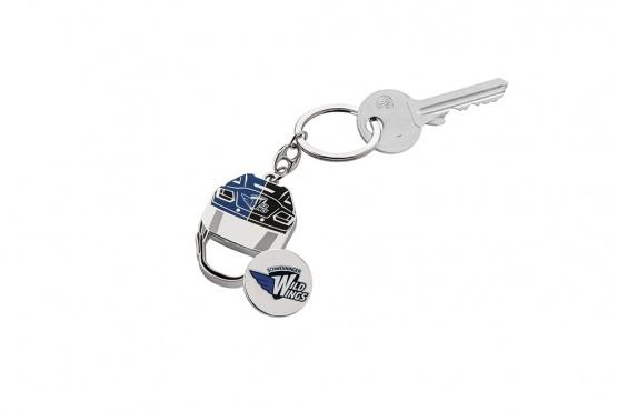 Schlüsselanhänger Helm mit Chip